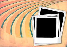 Free Instant Photo Frame On Vintage Background Stock Image - 18439561