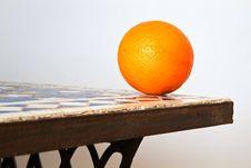Free Fresh Orange On A Table Stock Photos - 18439603