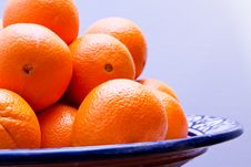 Fresh Oranges In A Bowl Royalty Free Stock Image