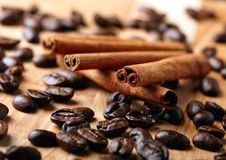 Free Cinnamon With Coffee Beans Stock Images - 18439904