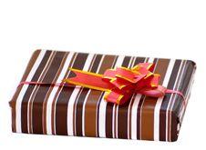 Free Striped Box With Ribbon Stock Photo - 18439980