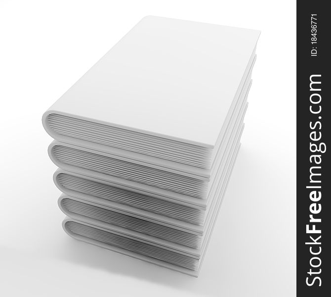Pack of white books(5)