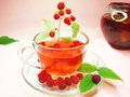 Free Fruit Red Tea Withraspberry Berries Royalty Free Stock Images - 18443919