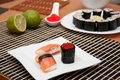 Free Sushi And Gunkan On The Plate Royalty Free Stock Image - 18447036