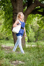 Free Beautiful Girl Walking In The Spring Park Stock Photos - 18447133