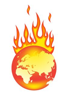 Free World On Fire Royalty Free Stock Images - 18440009