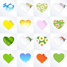 Free Hearts In Different Kinds Stock Images - 18440114