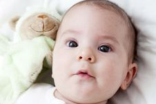 Free Closeup Portrait Of Adorable Baby Stock Photo - 18440980