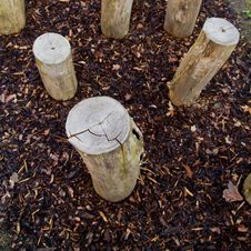Free Logs Standing In Playground Stock Photography - 18441302