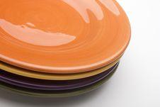 Free Ceramic Plates Royalty Free Stock Photography - 18441597