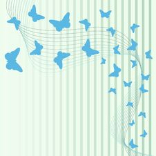 Free Background With Butterflies Royalty Free Stock Images - 18441629