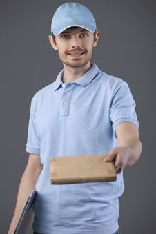 Free Delivery Courier Stock Photography - 18442342