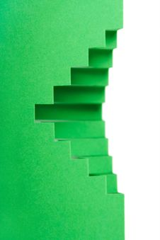 Free Abstract Green Paper Compositionds, Royalty Free Stock Images - 18442439