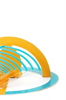 Free Abstract Cutout Blue And Orange Paper Background Royalty Free Stock Photo - 18442455