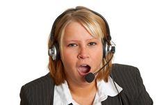 Free Yawning Businesswoman Stock Photography - 18442702