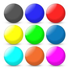 Free Color Balls Set Stock Images - 18443024
