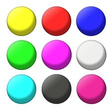 Free Color Balls Set Royalty Free Stock Photos - 18443058