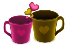 Free Cups With Heart Stock Photos - 18443753
