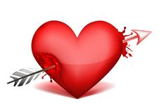 Free Heart With Arrow Royalty Free Stock Images - 18443829