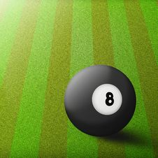 Free Black Billiard Ball Stock Images - 18444494