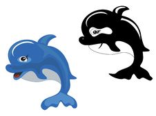 Dolphin And Shark Stock Photography