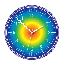 Free Colorful Rainbow Clock Royalty Free Stock Images - 18444929