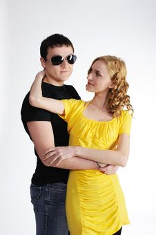 Free Young Man With His Pretty Girlfriend Royalty Free Stock Photography - 18445797