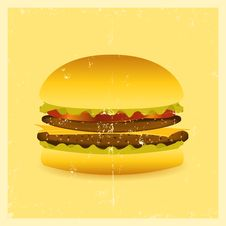 Grunge Hamburger Stock Photos