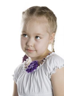 Free Cheerful Little Girl Smile. Royalty Free Stock Image - 18446186