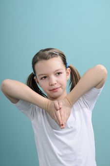 Free Girl Learning Exercises Royalty Free Stock Photography - 18446237