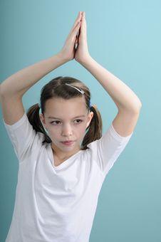 Free Schoolgirl Studying Exercises Stock Photography - 18446242