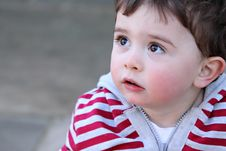 Free Portrait Of A Young Boy Looking Upwards Stock Images - 18446714
