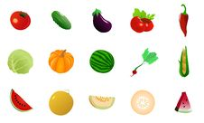 Free Set Of Vegetables Stock Photos - 18447163