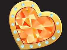 Free Heart With Diamond Stock Photography - 18447362