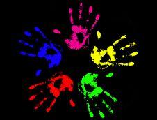 Free Hand Prints Stock Image - 18447851