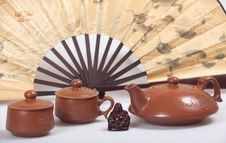 Free Chinese Teapot Set Stock Photography - 18447892