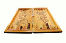 Board Game A Backgammon Stock Photo