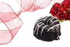 Free Chocolate Valentines Cake Royalty Free Stock Photos - 18448318