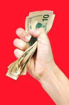 Free Hand Squeezing Money Stock Photos - 18449083