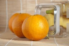Free Orange On The Table Stock Image - 18449151
