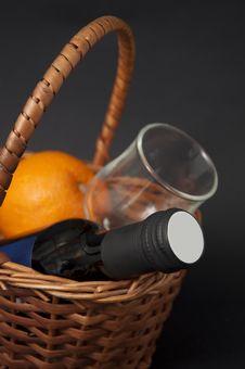 Free Wine And Orange Royalty Free Stock Image - 18449356