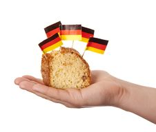 Free Hand Keep Cake With Germany Flags. Stock Photos - 18449503