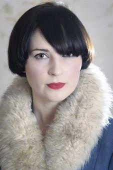 Free Fur Coat Woman Stock Images - 18449504