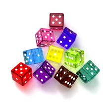 Free Colored Dices Stock Photo - 18449520