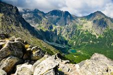 Free Slovakia High Tatras Green Mountain Lake Stock Image - 18449641