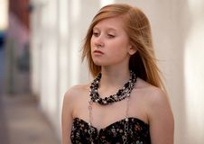 Free Pretty Teenager Downtown Stock Photography - 18449662