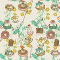 Free Sweet Cake. Seamless Pattern Royalty Free Stock Photo - 18455605