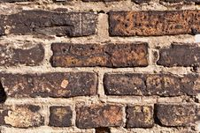 Brick Wall Of An Old House Stock Photography
