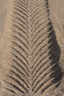 Free Vehicle Tracks In Sand Stock Images - 18451884