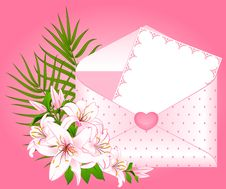 Free Invitation With Flowers Royalty Free Stock Photo - 18452285